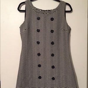 Ben Sherman Mod Chevron Mini Dress Size Medium